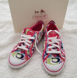 Coach Garrett Poppy multi color shoes